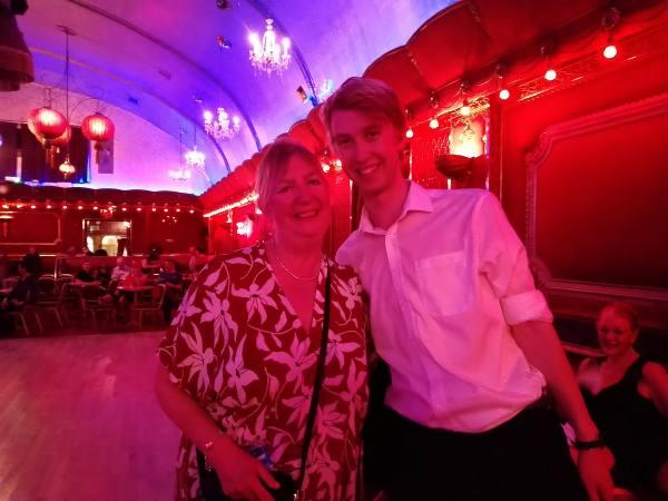 My son Connor and I at the Rivoli Ballroom, South London