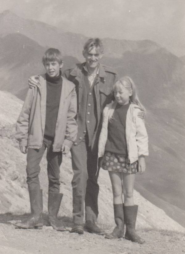 Me at ten years old on a camping trip in the Alps with my father and brother, just before visiting Italy for the first time.