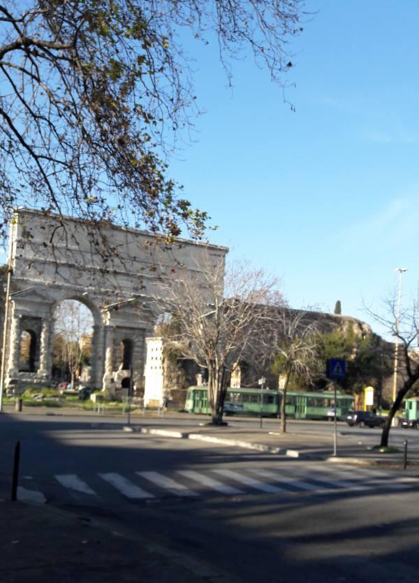Porta Maggiore with tram
